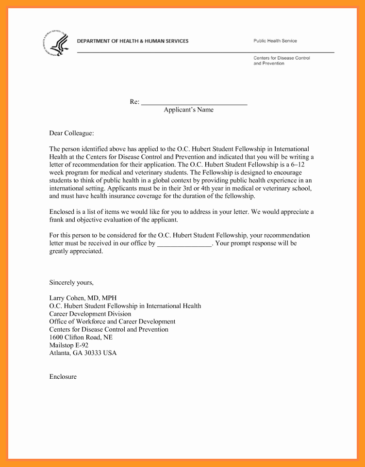 Med School Letter Of Recommendation Inspirational Re Mendation Letter Medical School