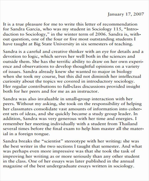 Med School Recommendation Letter Elegant 8 Medical School Re Mendation Letter – Pdf Word