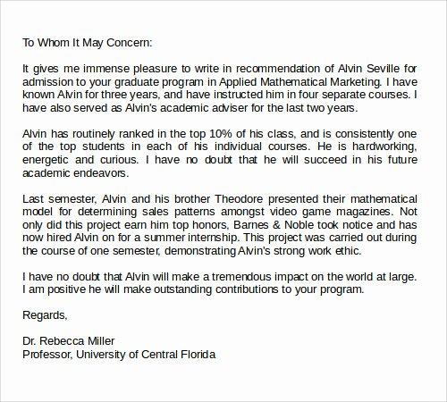 Med School Recommendation Letter Fresh 28 Letter Of Re Mendation In Word Samples
