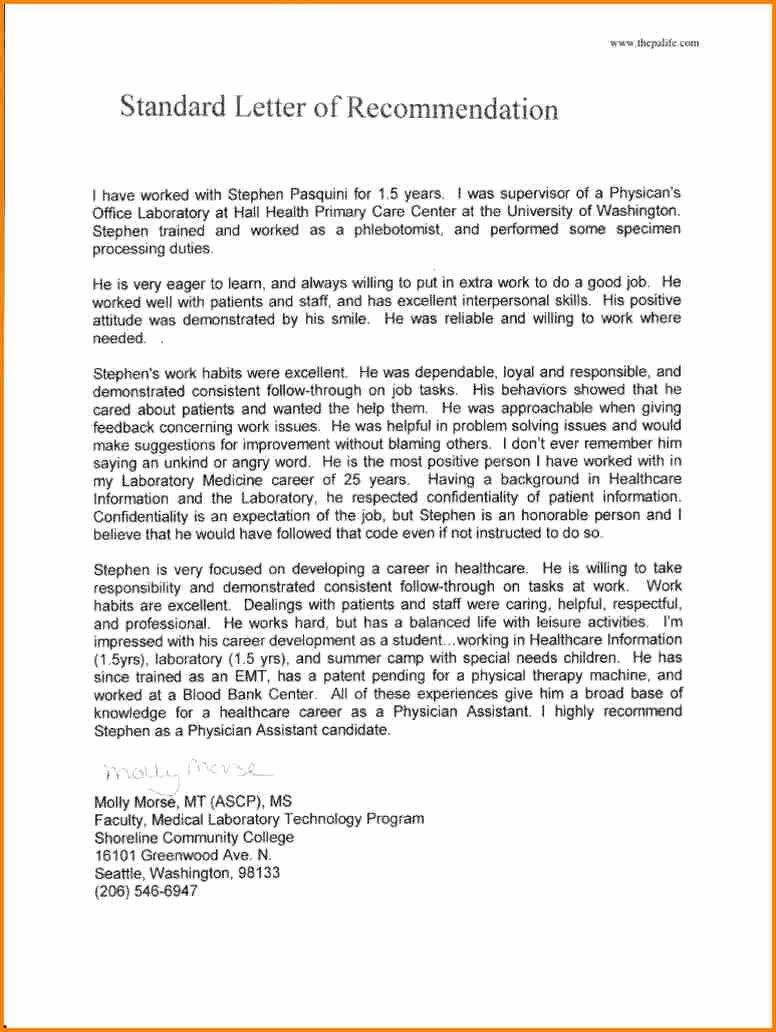 Med School Recommendation Letter Inspirational 11 Re Mendation Letter for Medical School Sample