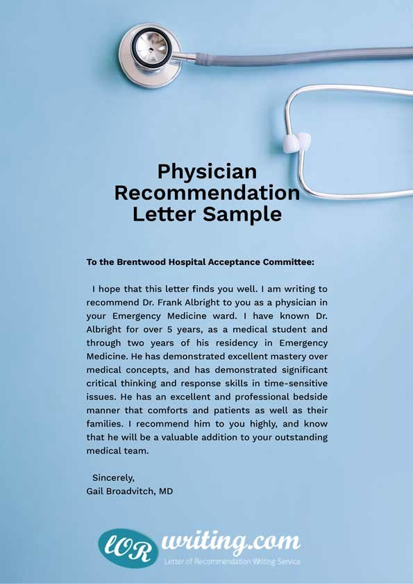 Med School Recommendation Letter Sample Beautiful Professional Medical School Re Mendation Letter Example
