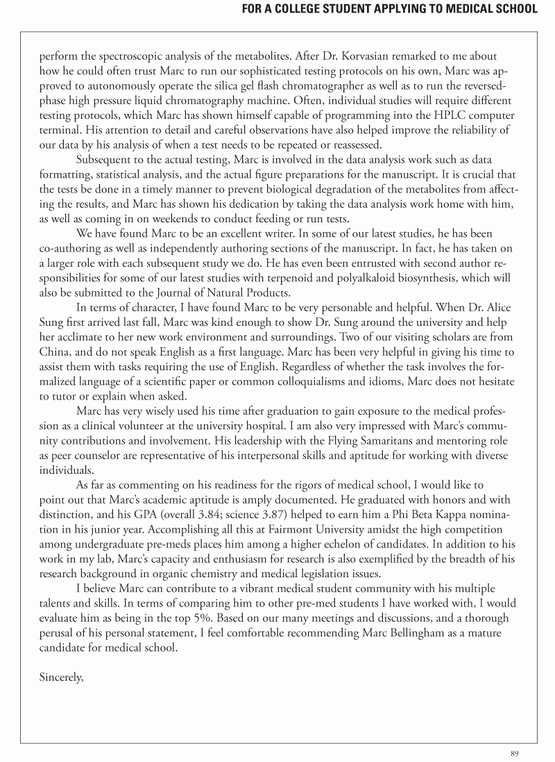 Med School Recommendation Letter Sample Unique for Current Applicants Update Letter Do's and Don'ts