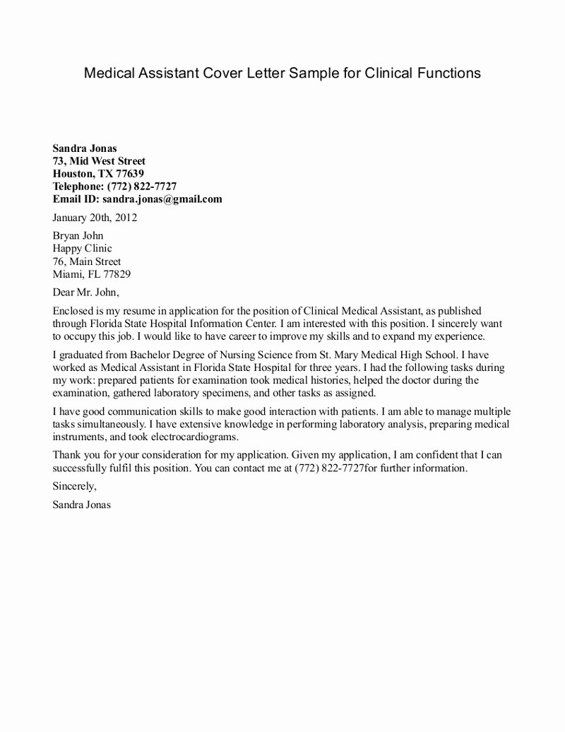 Medical assistant Letter Of Recommendation Unique Medical assistant Re Mendation Letter Letter Of