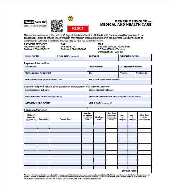Medical Bill Template Pdf Awesome 16 Medical Invoice Templates Doc Pdf
