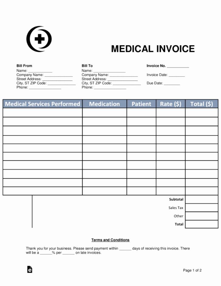 Medical Bill Template Pdf Beautiful Medical Bill Template Pdf – Medical Bill Template Pdf