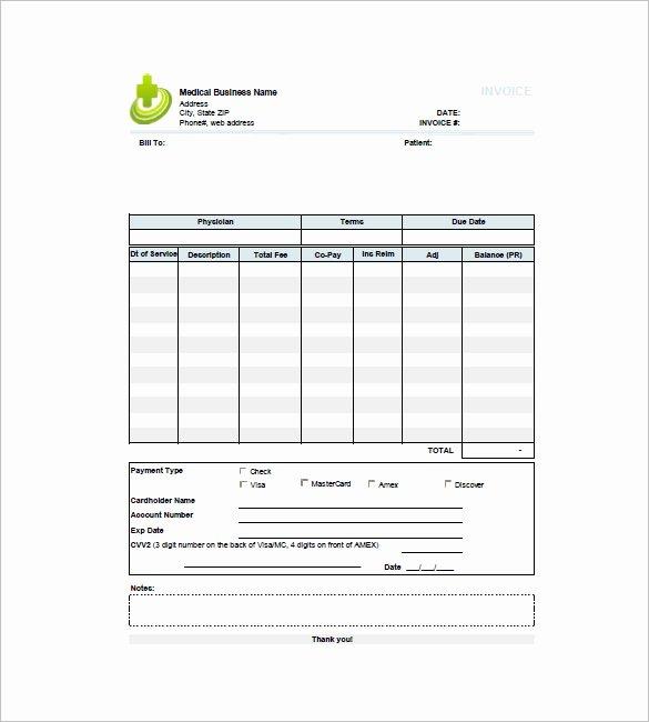 Medical Bill Template Pdf Fresh 16 Medical Invoice Templates Doc Pdf