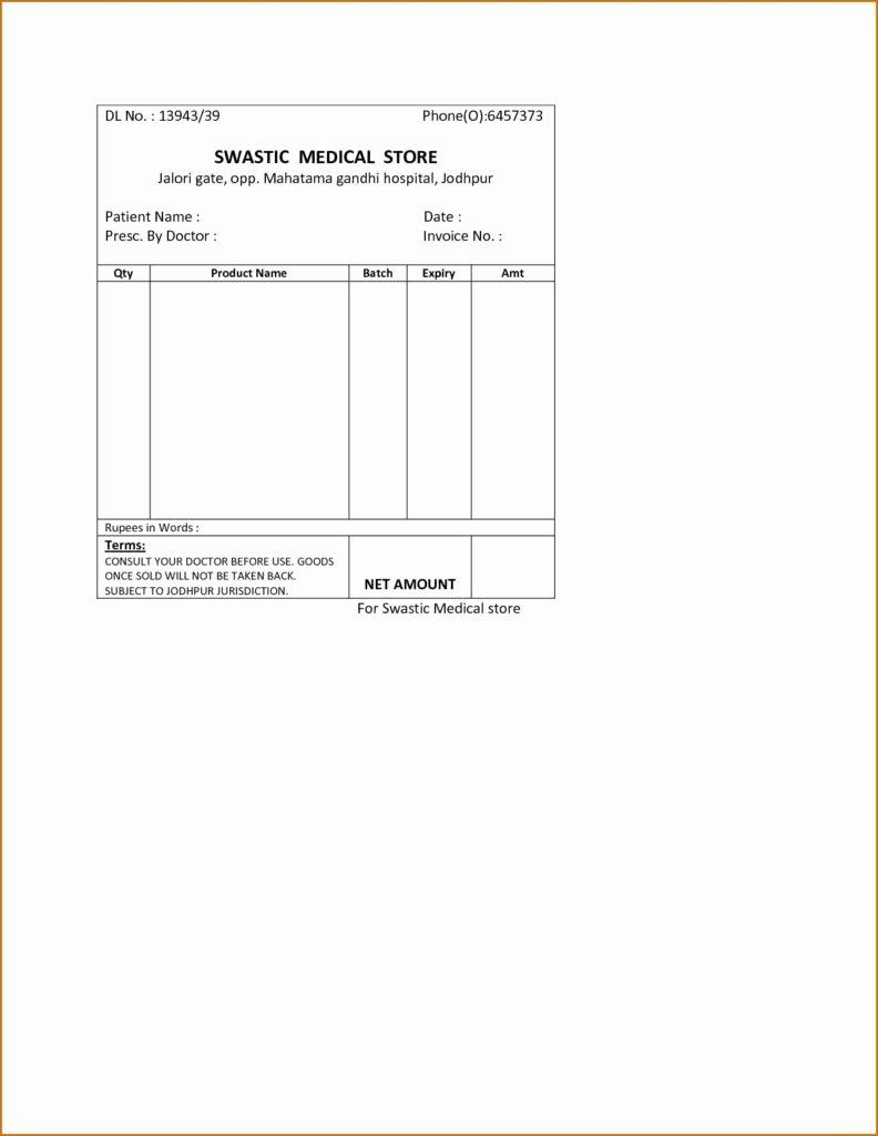 Medical Bill Template Pdf Fresh Medical Bill Template Pdf and Invoice Template Payment