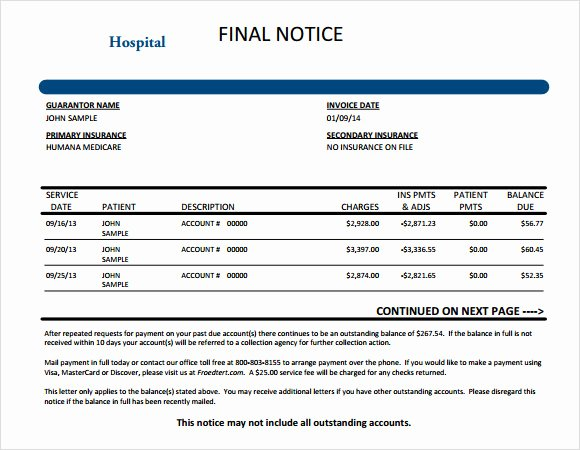 Medical Bill Template Pdf Lovely 9 Medical Invoice Templates – Free Samples Examples