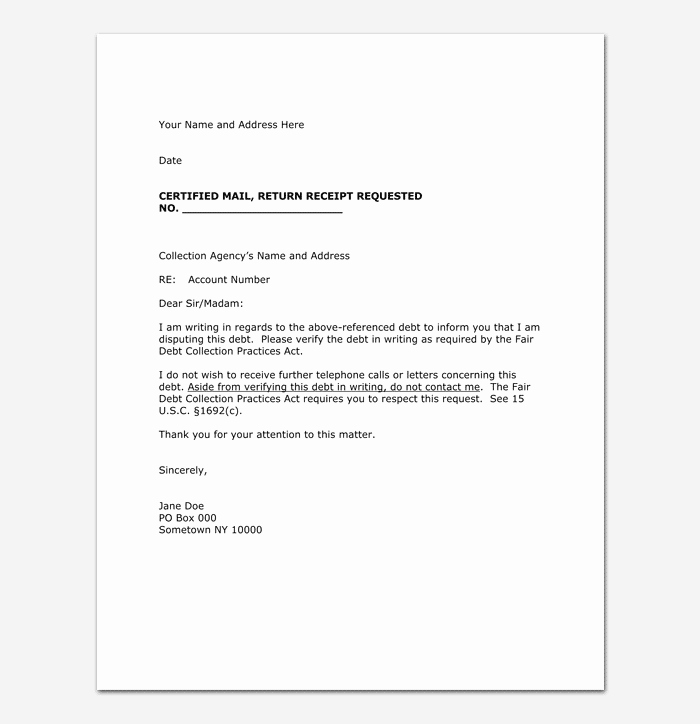 collection letter template 10 samples examples