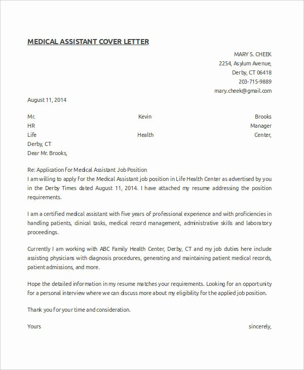 Medical Collection Letter Templates Fresh Medical Letter Template 9 Free Sample Example format