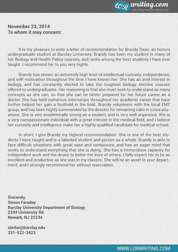 Medical School Letter Of Recommendation Best Of How to Write A Letter Rec for Medical School