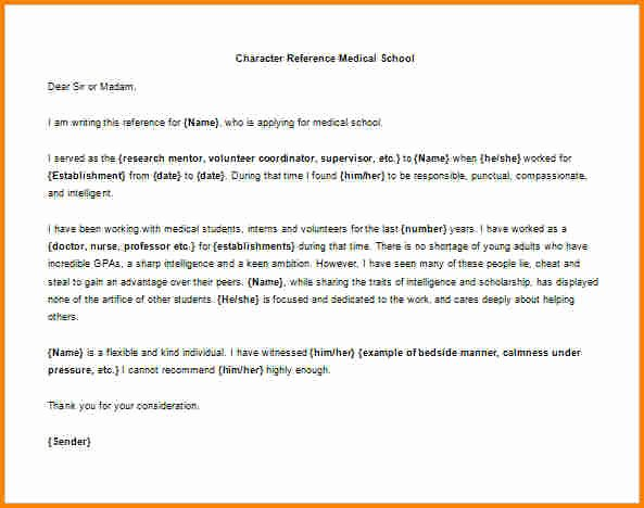 Medical School Recommendation Letter Example Lovely 6 Sample