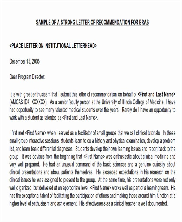 physician letter of re mendation