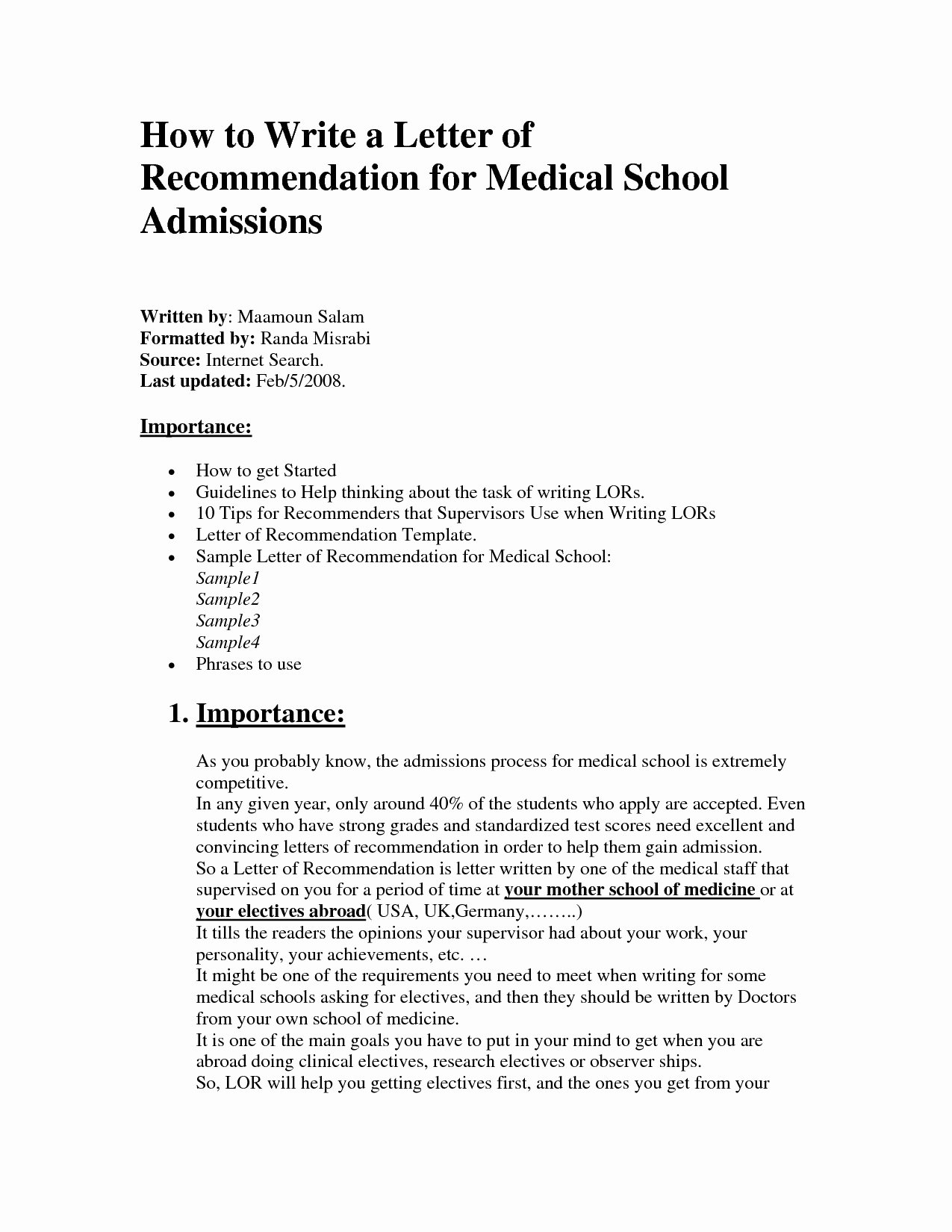 Medical School Recommendation Letter Example Unique Template for Letter Re Mendation for Medical School