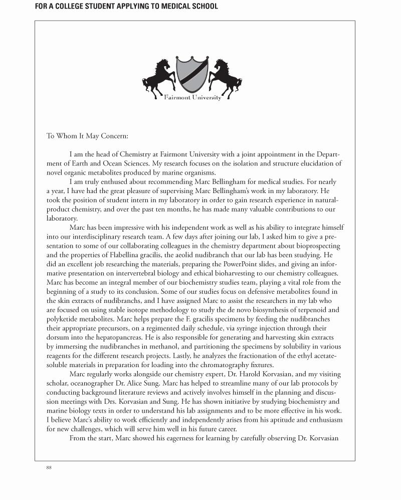 Medical School Recommendation Letter Fresh Medical School Letters Of Re Mendation Your Faq