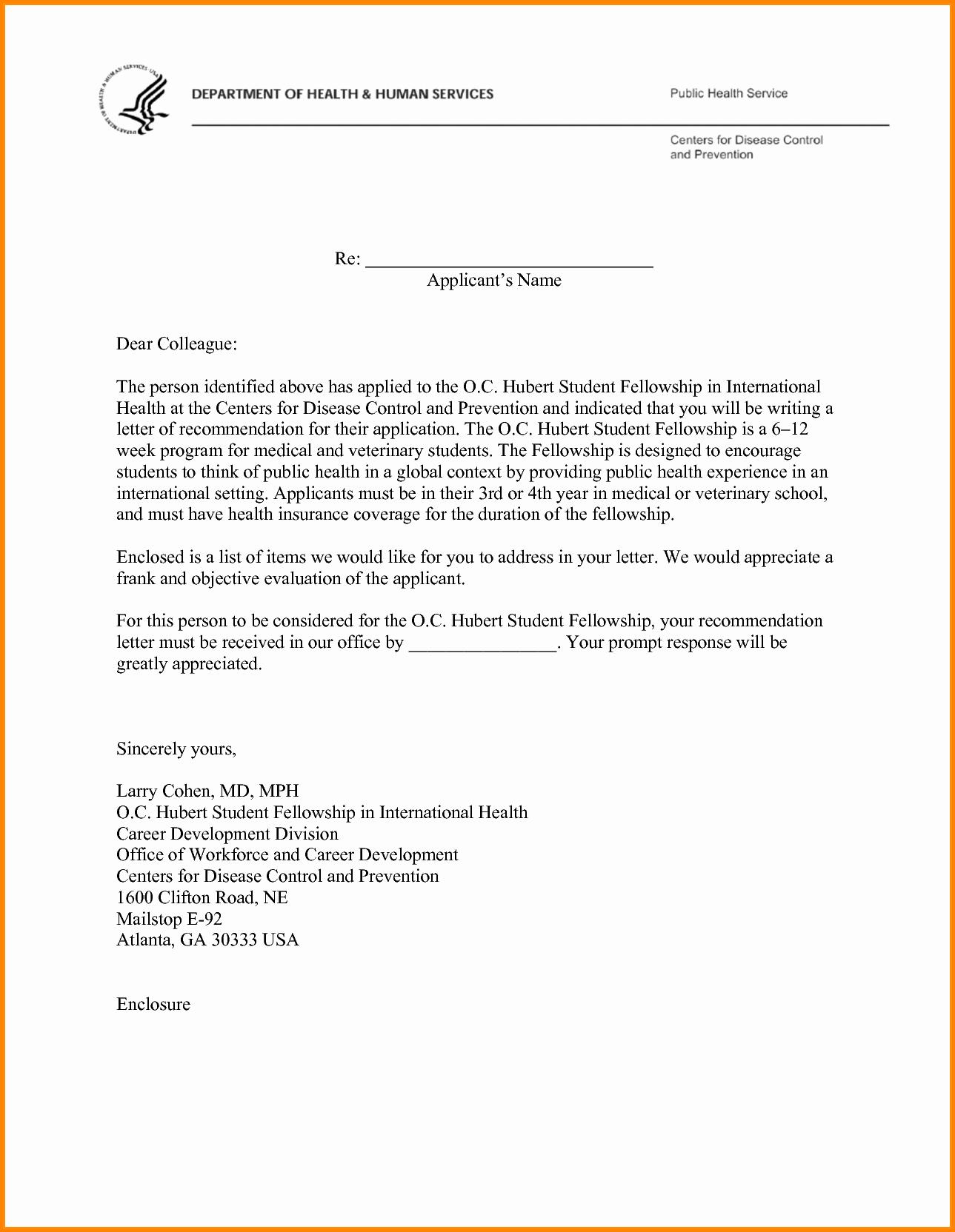 Medical School Recommendation Letter Sample Inspirational 12 Letter Of Re Mendation for Medical School Sample