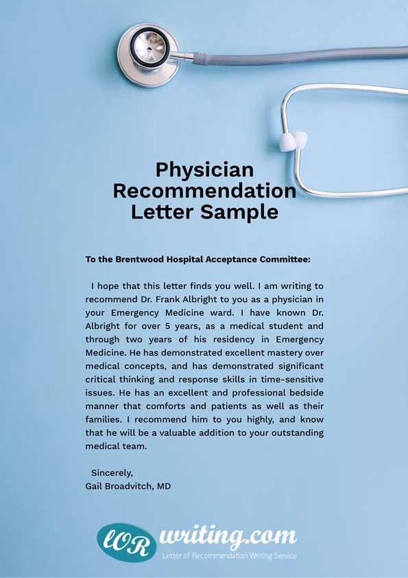 Medical School Recommendation Letter Sample Inspirational Professional Medical School Re Mendation Letter Example