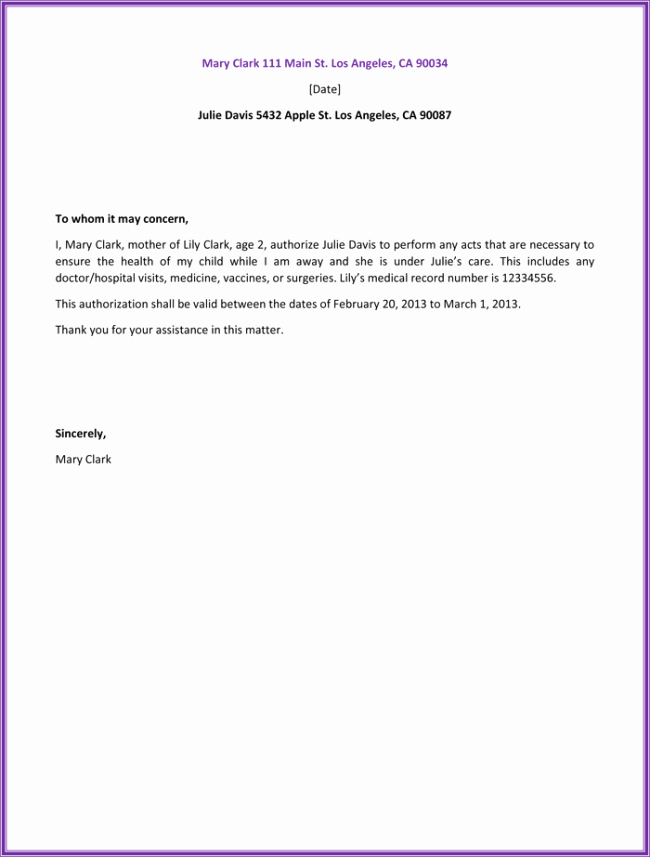 Medical School Update Letter format Best Of 25 Best Authorization Letter Samples formats & Templates