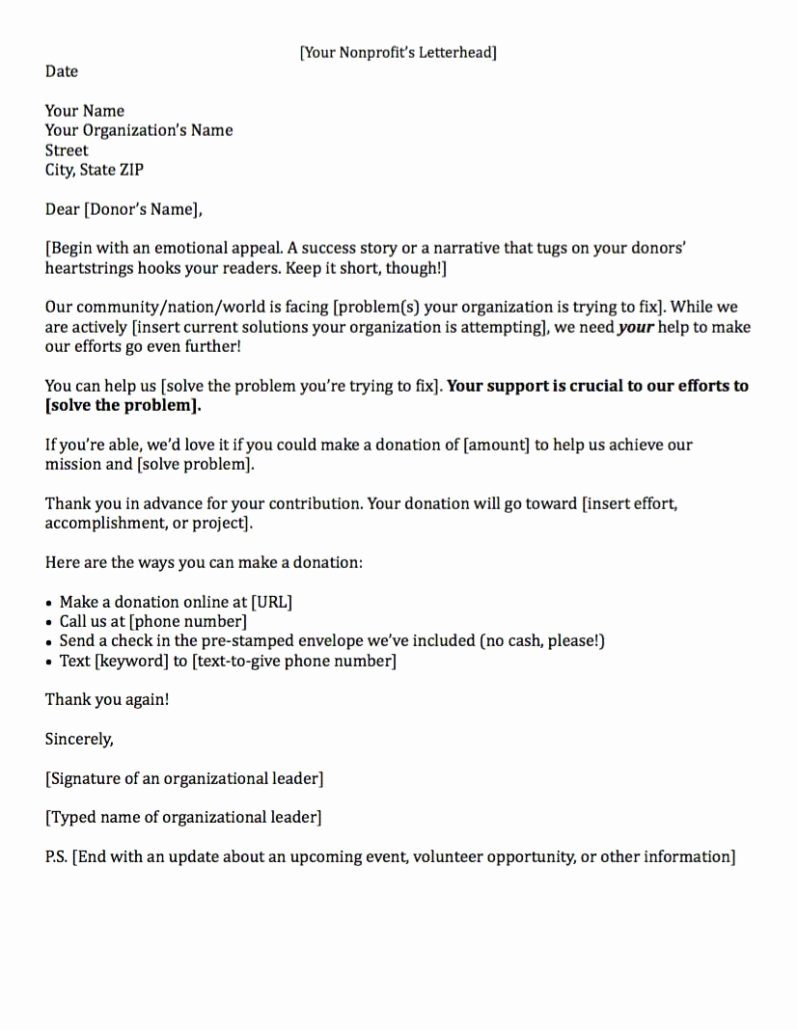 Medical School Update Letter format Best Of Fundraising Made Effortless with 13 Donation Request Letters