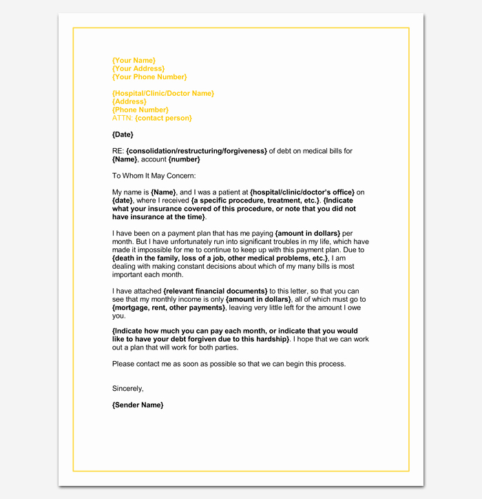 Medical School Update Letter format Fresh Medical Hardship Letter Template Word Doc Sample