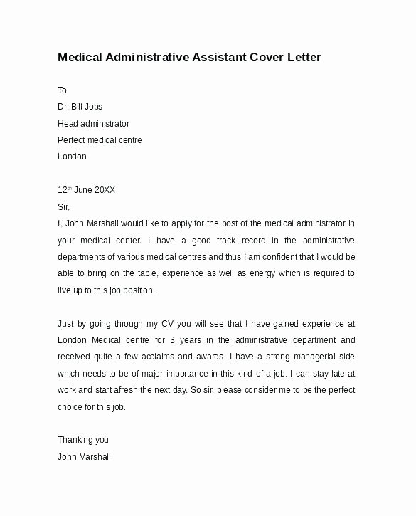 Medical Scribe Cover Letter Example Fresh Cover Letter Examples for Doctors Samples Cover Letter for