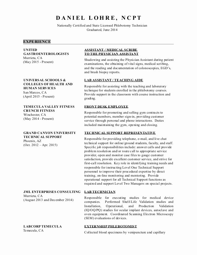 Medical Scribe Cover Letter Example Fresh Medical Scribe Resume Uirunisaza Web Fc2