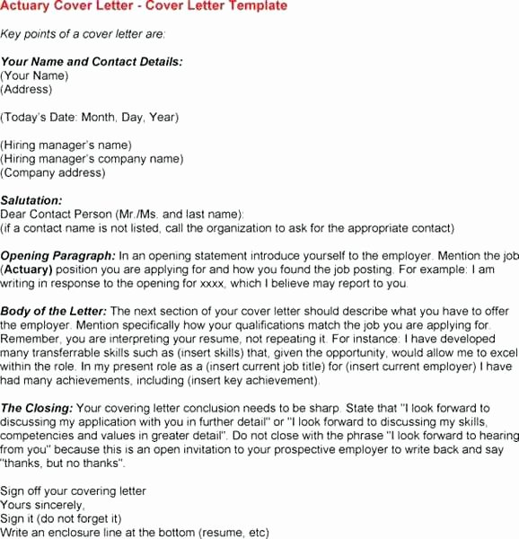 Medical Scribe Cover Letter No Experience Awesome Actuarial Cover Letter