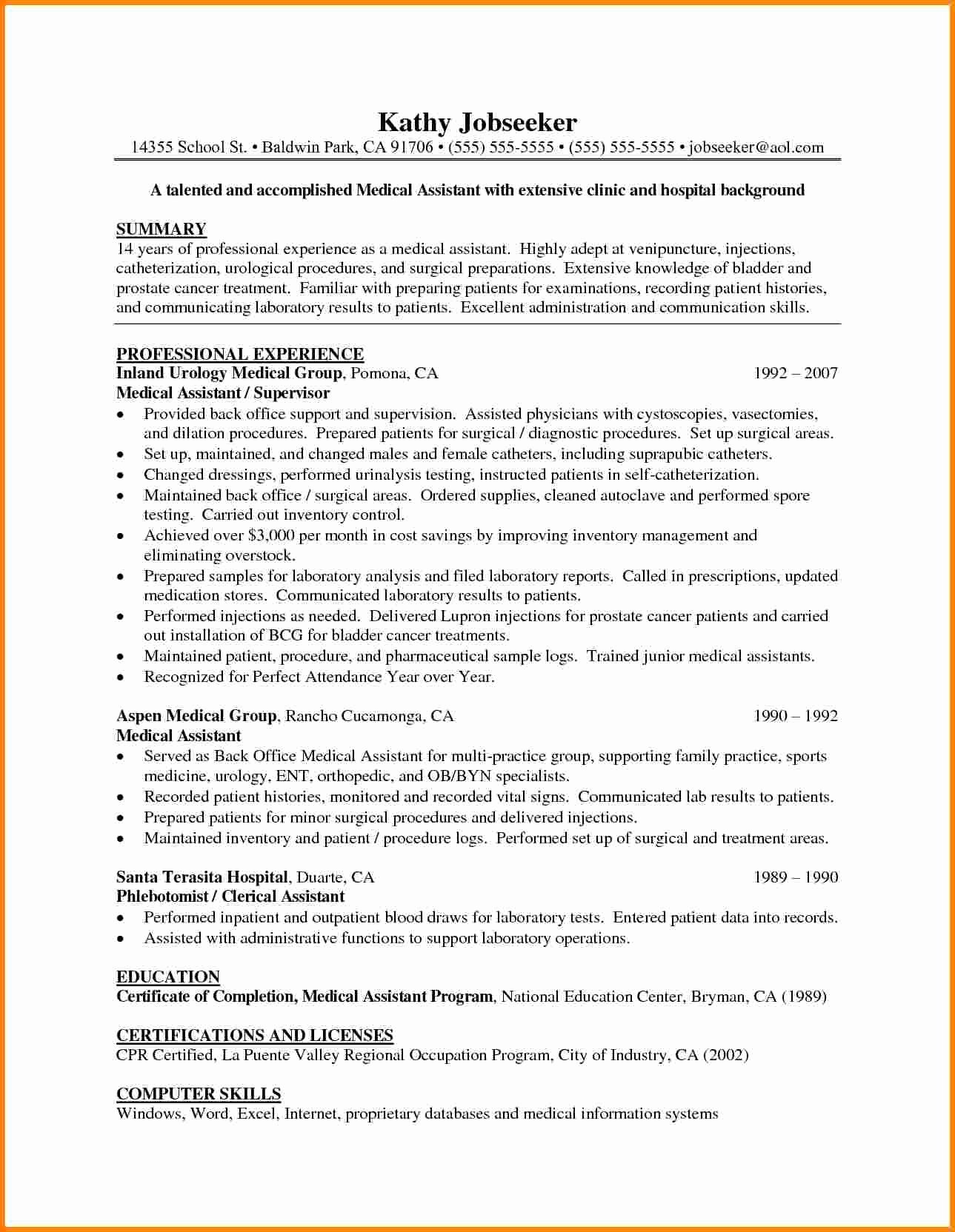 Medical Scribe Cover Letter No Experience Lovely 4 Statement Of Qualifications Example Letter