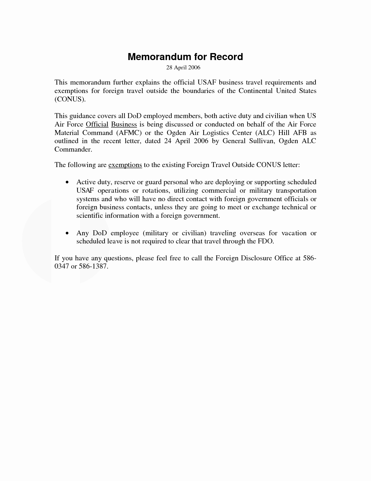 Memo for Record Template Awesome 10 Best Of Memorandum for Record Example Army