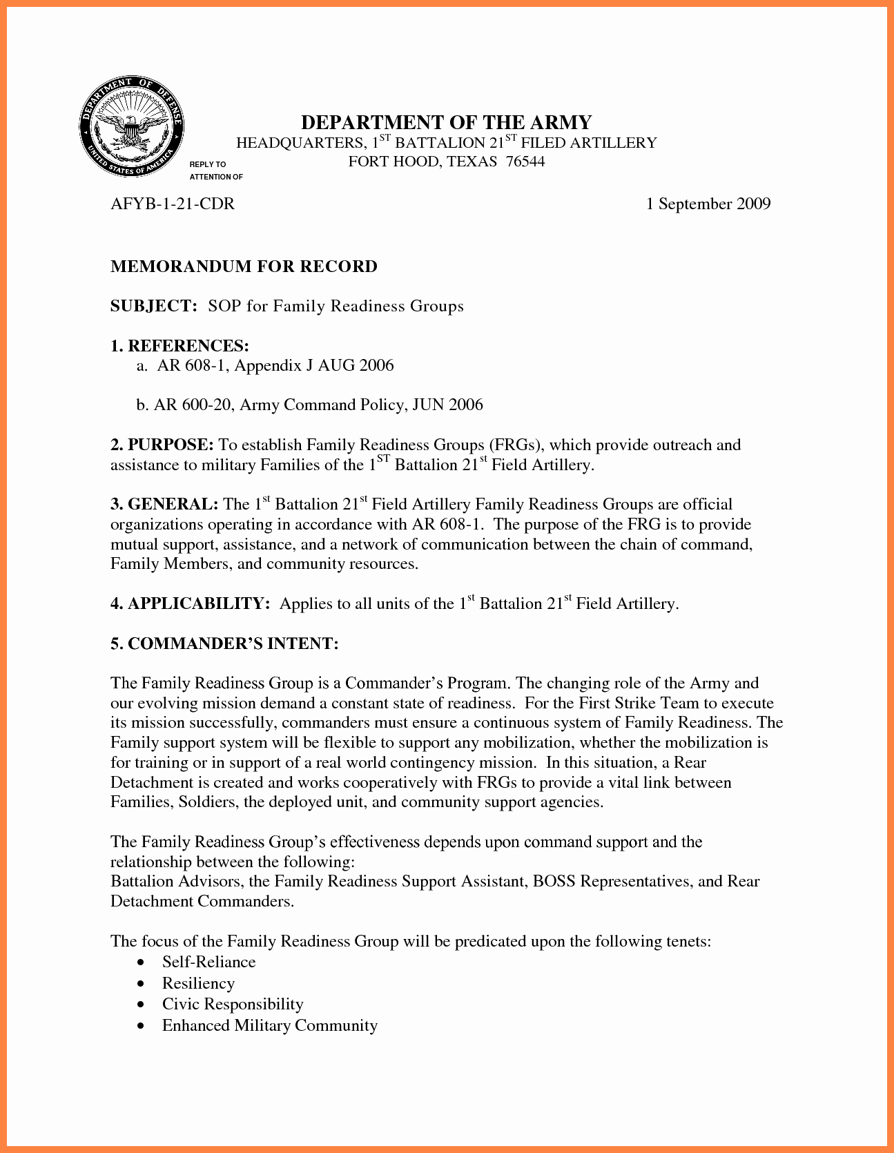 Memo for Record Template Best Of 9 Memorandum for Record Army