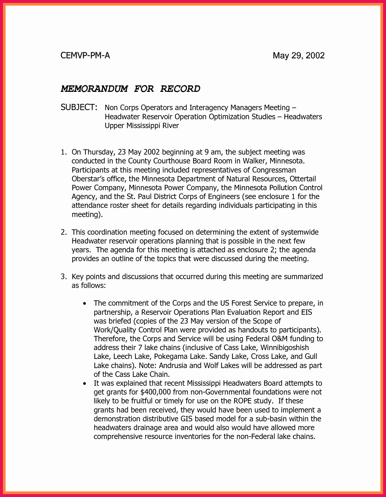 Memo for Record Template Best Of Memorandum for Record Template