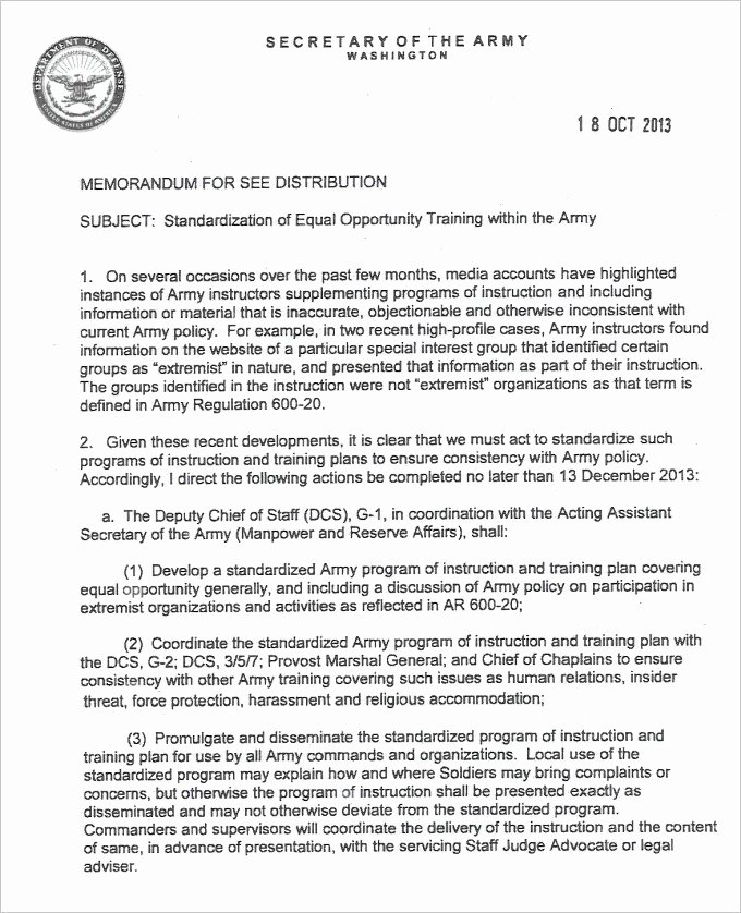 Memo for Record Template Elegant 9 Army Memorandum for Record Template
