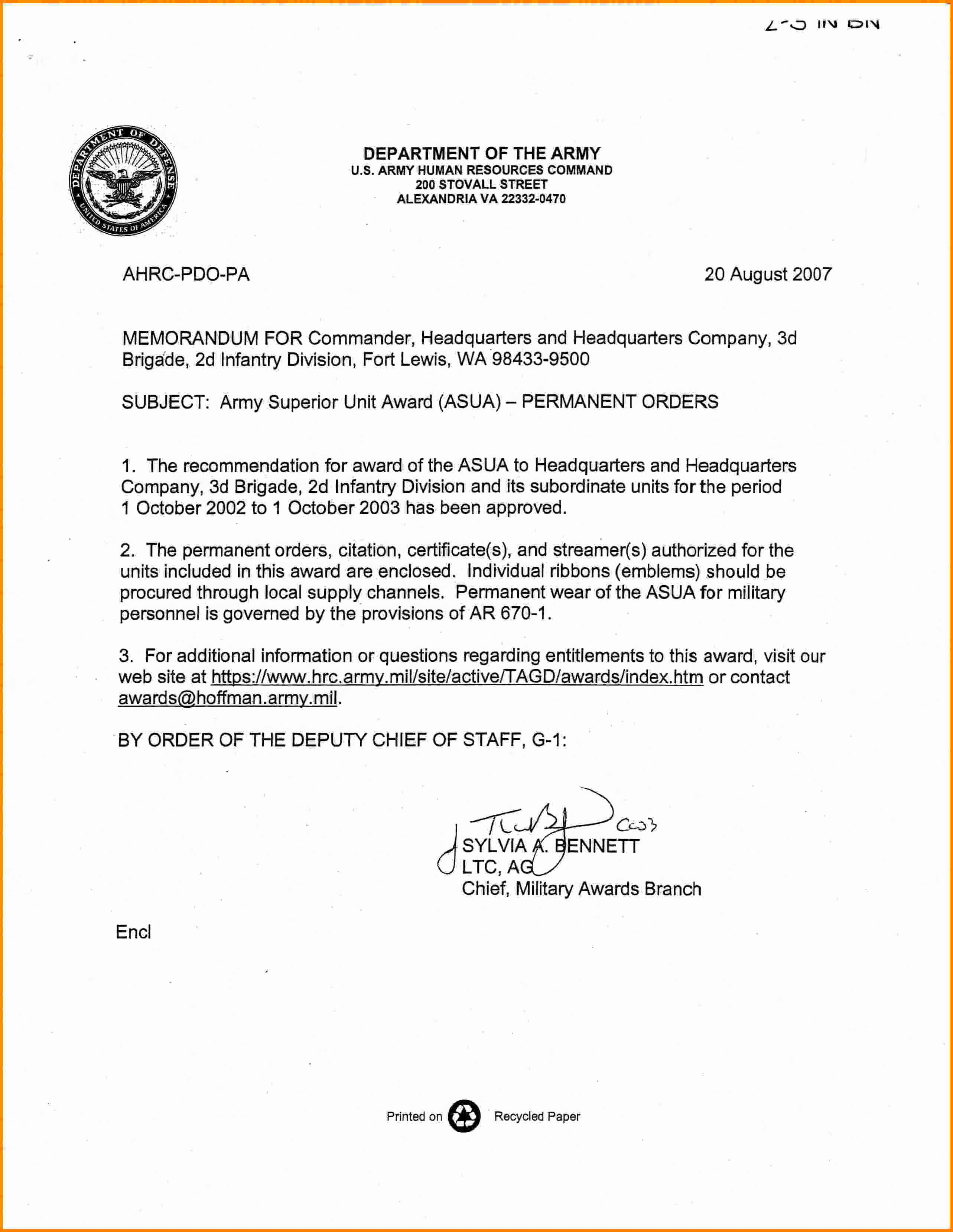 Memo for Record Template Fresh 6 Memorandum for Record Army