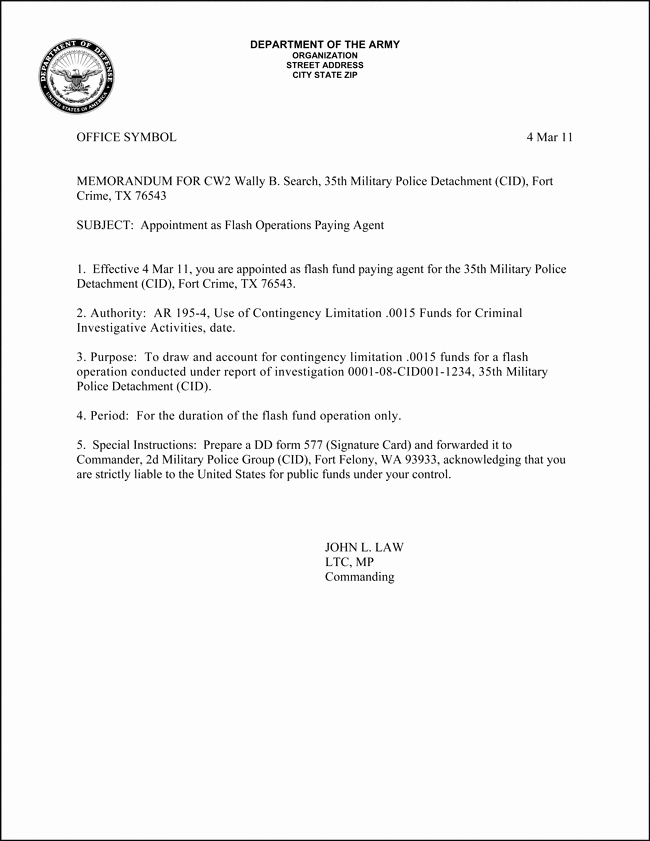 Memo for Record Template Inspirational 10 Best Of Army Informal Memorandum Example