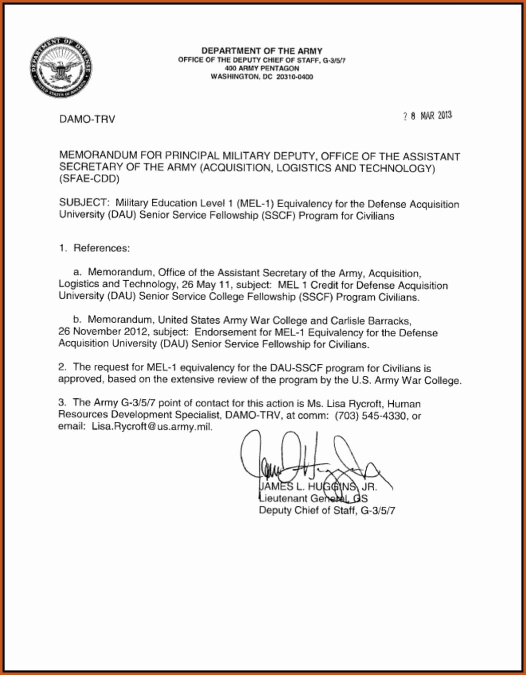 Memo for Record Template Luxury 13 Example Army Memorandum