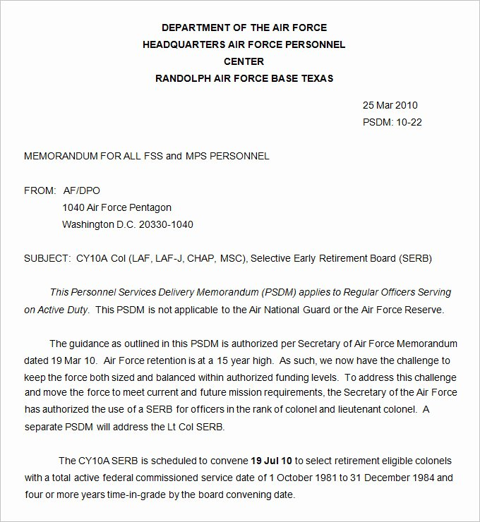 Memo for Record Template Luxury Army Memorandum Template 4 Free Word Pdf Documents
