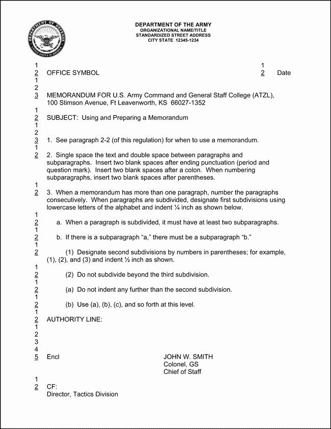 air force memorandum template