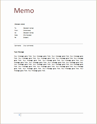 Memorandum Template Word 2010 Awesome Memo Template