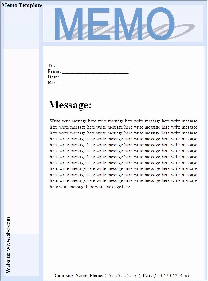 Memorandum Template Word 2010 Beautiful 8 Best Of Printable Memo Templates Business Memo