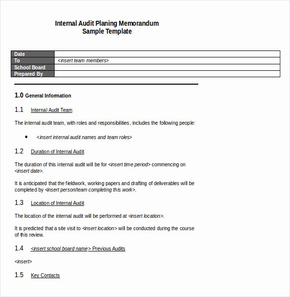 Memorandum Template Word 2010 Beautiful Audit Memo Template – 12 Word Excel Pdf Documents