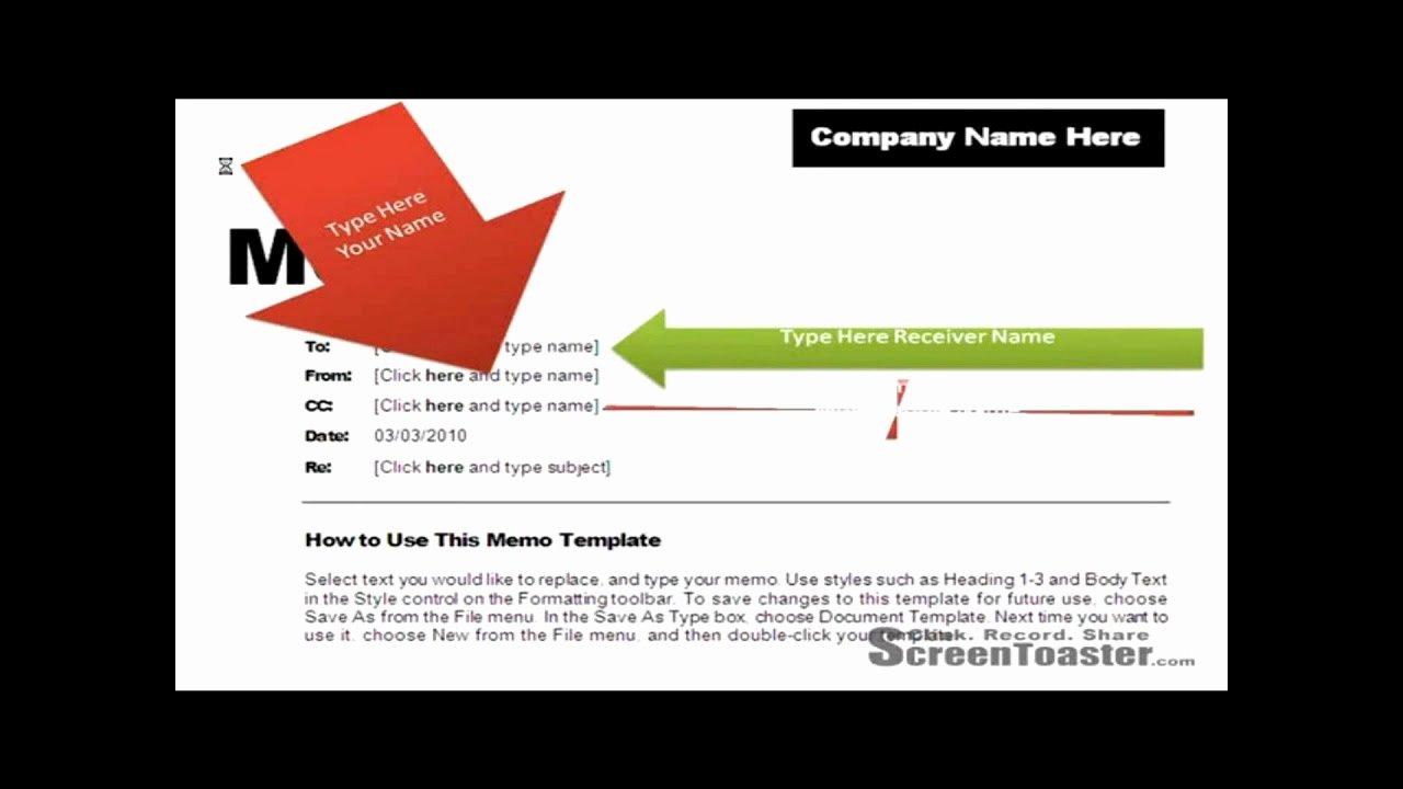 Memorandum Template Word 2010 Beautiful How to Use Memo Template In Word 2007