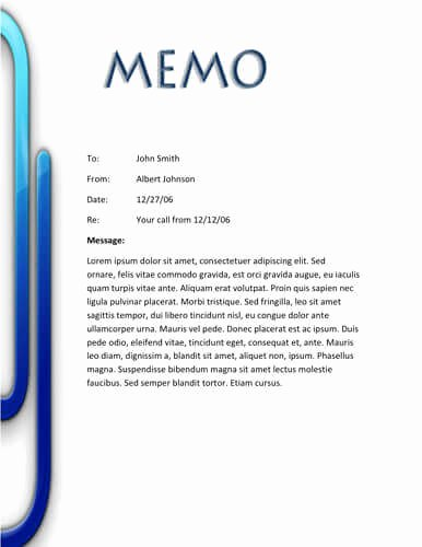 Memorandum Template Word 2010 Beautiful Memo format [bonus 48 Memo Templates]