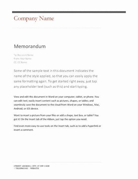 Memorandum Template Word 2010 Elegant Memo format Word