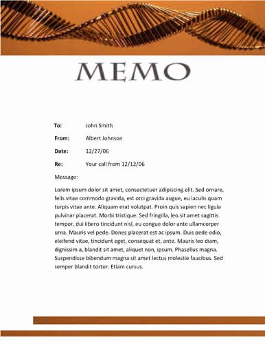 Memorandum Template Word 2010 Lovely Chemical theme Memo Template