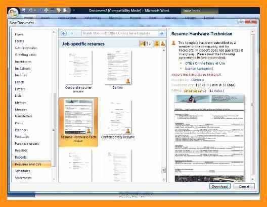 Memorandum Template Word 2010 New Resume Templates for Word 2010