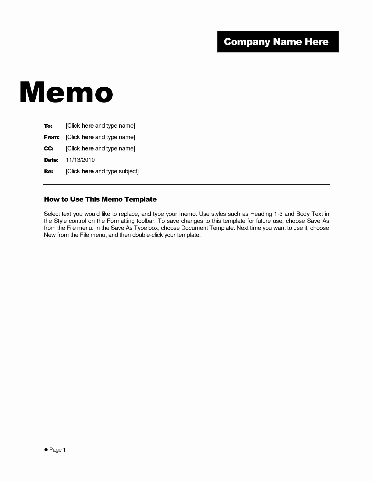 Memorandum Template Word 2010 Unique Best S Of Free Memo Templates Word Document