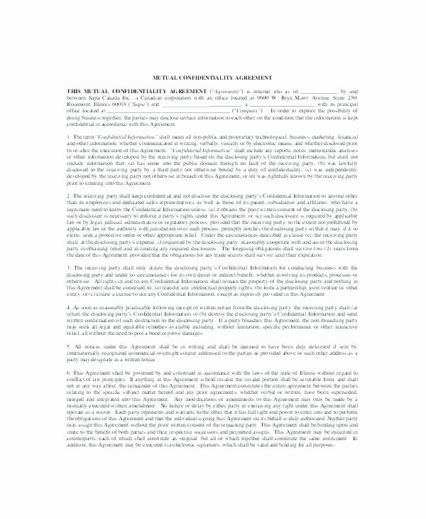 Mental Health Confidentiality Agreement Template Best Of Selling Business Contract Template Free Download Buy Sell