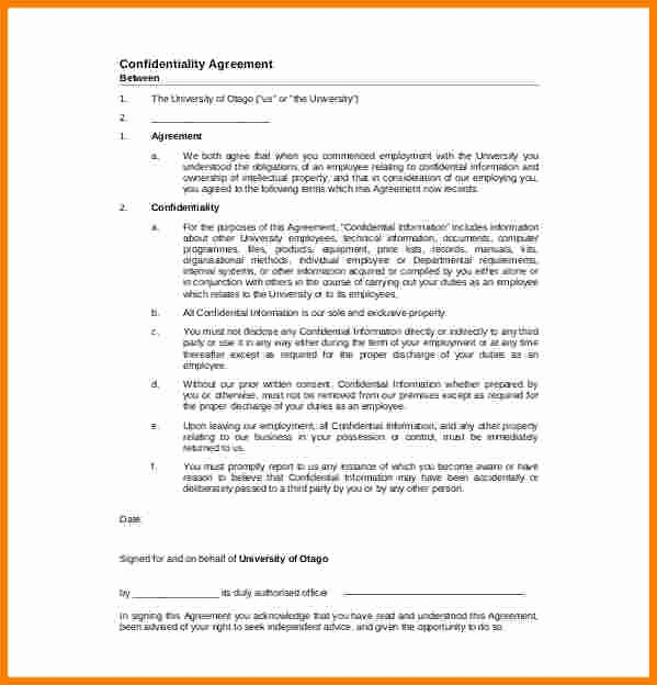 Mental Health Confidentiality Agreement Template Fresh Confidential Document Statement Example