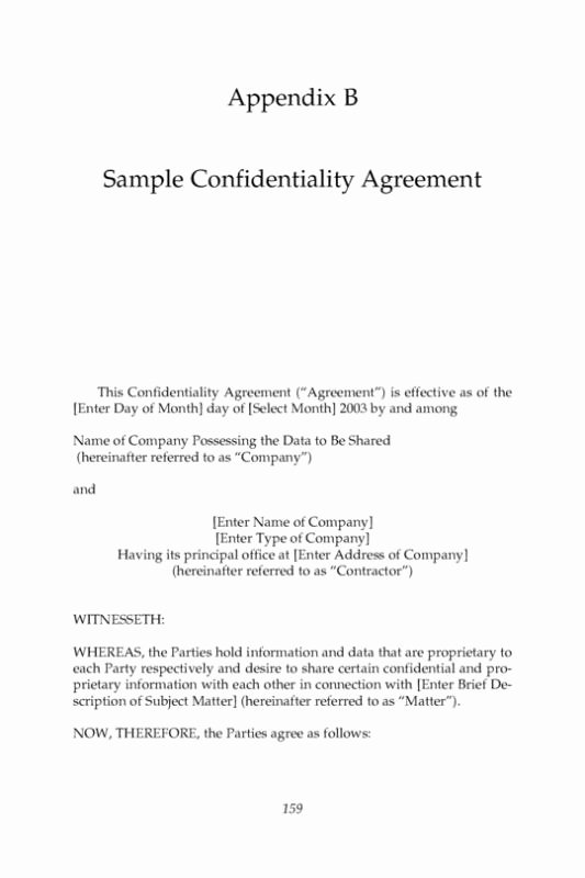 Mental Health Confidentiality Agreement Template Best Of 17