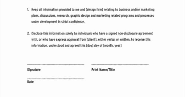 Mental Health Confidentiality Agreement Template Unique Confidentiality Agreement Template Google Search